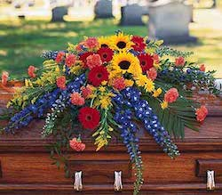Coffin with Flowers
