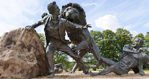 Sculpture of David Livingstone Being Attacked by a Lion