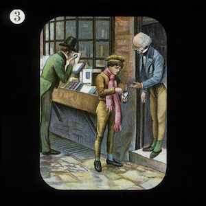 David Livingstone buying a book as a boy - London Missionary Society painting