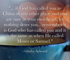 Gladys Aylward quotation