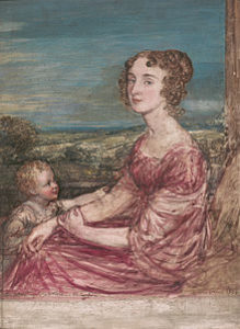Barbara Spooner Wilberforce with child