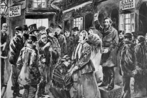 William and Catherine Booth ministering in a street meeting