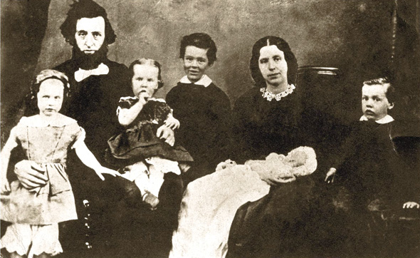 William and Catherine Booth with the first five of their young children