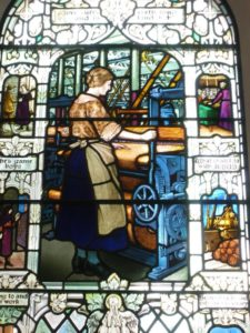 Stained Glass Church Window of Mary Slessor in Scotland