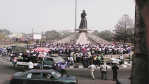 Statue of Mary Slessor Holding Twins in Calabar