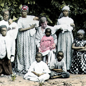 Mary Slessor (seated) with a Nigerian family