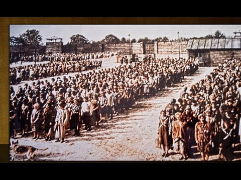 Ravensbruck female prisoners at roll call, in The Hiding Place movie