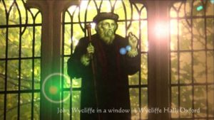 John Wycliffe window in Wycliffe Hall, Oxford University