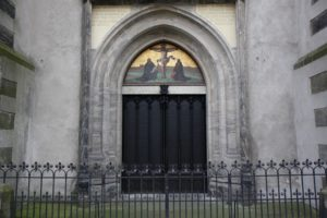The 95 Theses Wittenberg church door today