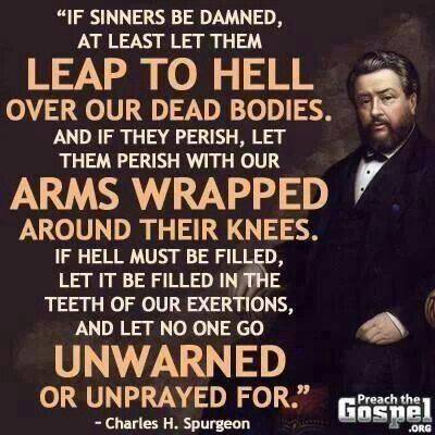 Charles Spurgeon quotation on Hell