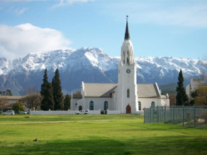Historic Dutch Reformed Church in Worcester, South Africa