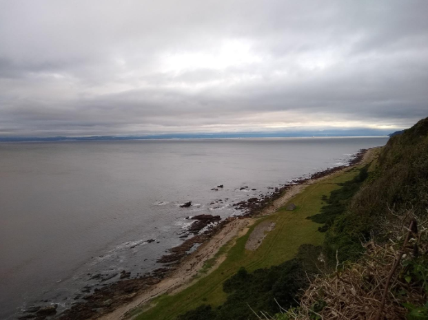 View of Moray Firth from cliffside