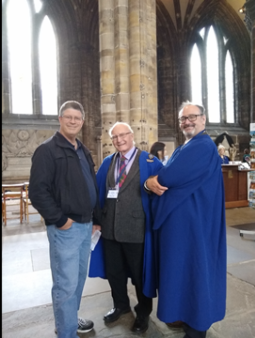 Vance with Rev. David Easton and Mr. Bill Lintoft
